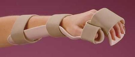 Rolyan Preformed Resting Pan Mitt Splint With Strapping