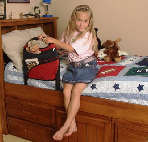 Children's Bed Rail And Sports Pouch