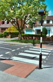Truncated Dome Surface For Pedestrian Intersection Crossing Points