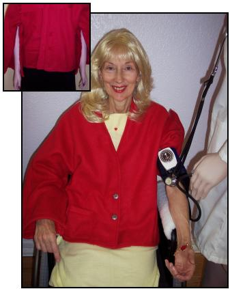 Women's Fleece Blood Pressure / I.v. Bed Jacket