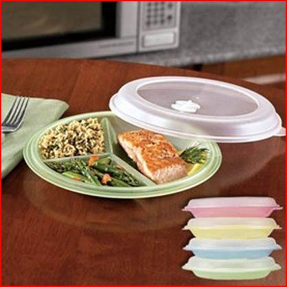 8-Piece Divided Plate And Lid Set