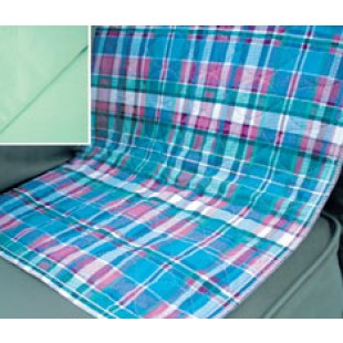 Quilted Plaid Incontinence Pad