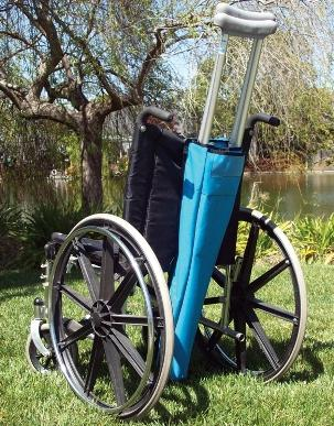 Crutch Bag For Wheelchair