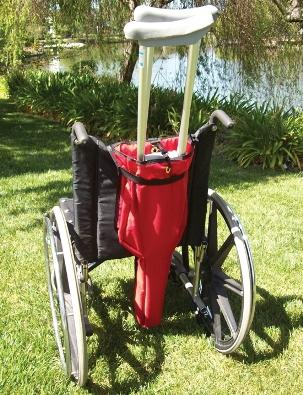 Larger Crutch Bag For Wheelchair