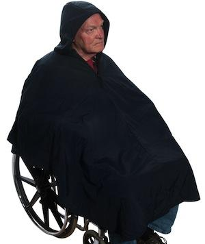 Fleece Lined Wheelchair Poncho