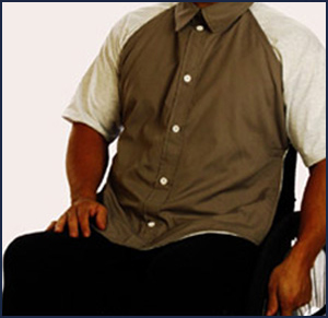 Adult Bibs Button Down Shirt Protector