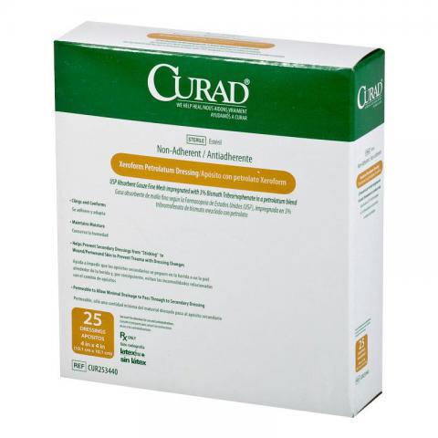 Medline Curad Xeroform Sterile Petrolatum Gauze Dressing