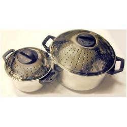 Stainless Steel Locking Strainer Lid Pasta Pot Set