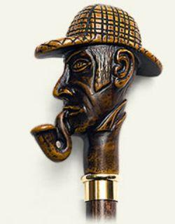 Sherlock Holmes Molded Handle Walking Stick