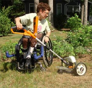 Custom Adapted Wheelchair Lawnmower