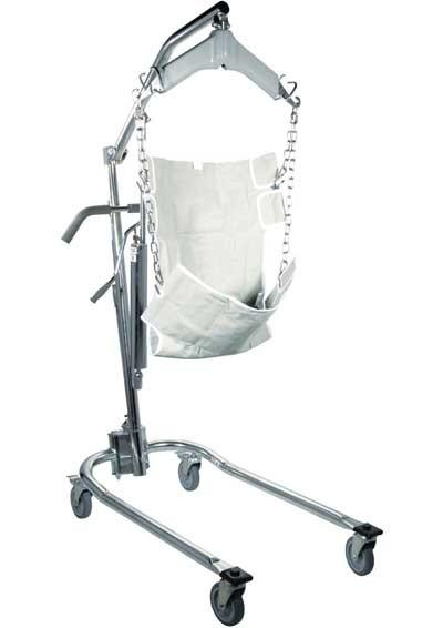 Drive Hydraulic Deluxe Chrome Plated Patient Lift W/Six Point Cradle