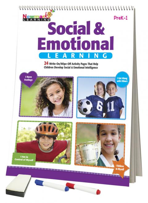 Newmark Learning Flip Chart, Social and Emotional Learning, PreK to 1st Grade