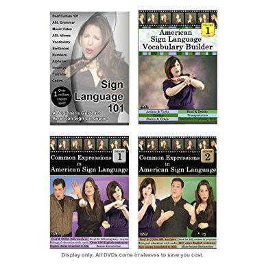 Sign Language Starter Kit (4 DVDs)