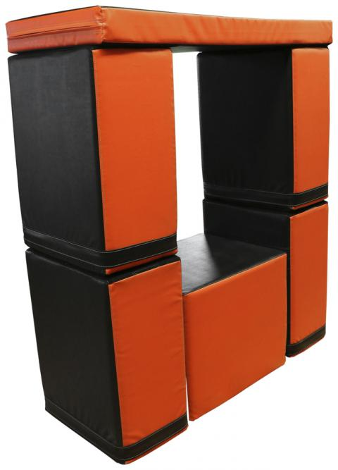 UCS INC Urban Adventure Window/Bench Combination Obstacle, Black/Orange
