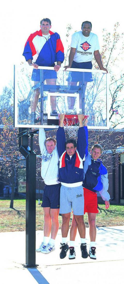 Goalsetter Height Adjustable MVP Basketball System, 72 X 42 X 3/8 in Backboard, Steel, Nylon Bushings