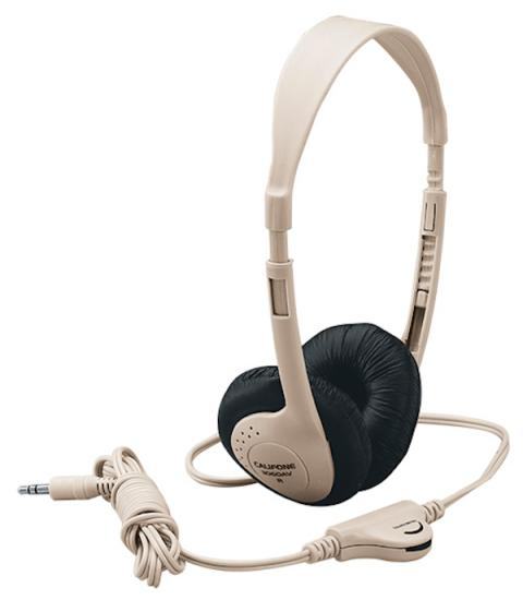 Stereo Headphones with Ear Cushions and Volume Control