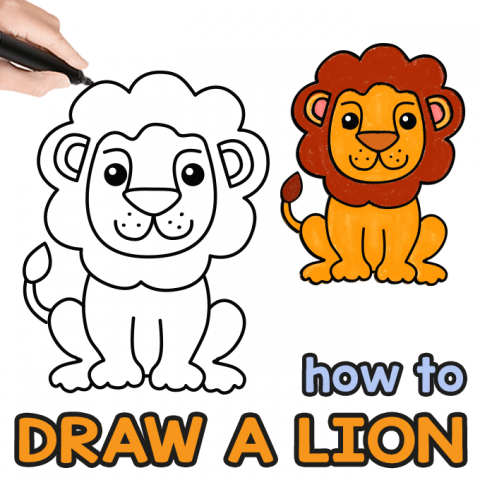 How to Draw a Lion – Step by Step Drawing Guide
