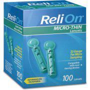 ReliOn 33G Micro Thin Lancets 100ct (Model 006133RO)