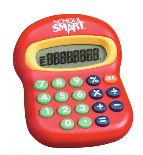 School Smart Big Calculator, Basic Math, 3-1/2 x 4-1/2 Inches, 8 Digits